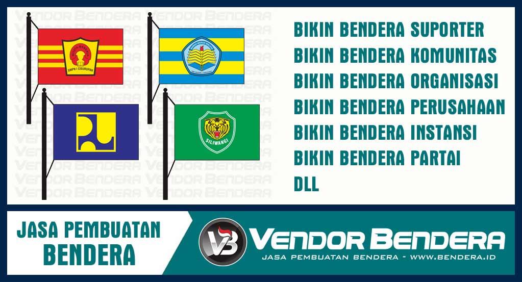 Jasa Bikin Bendera Desain Sendiri dengan Kualitas Printing Unggul