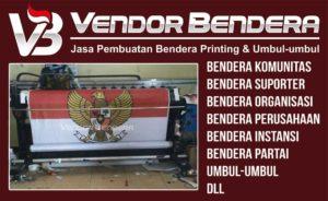 Jasa Pembuatan Bendera Printing Bebas Desain