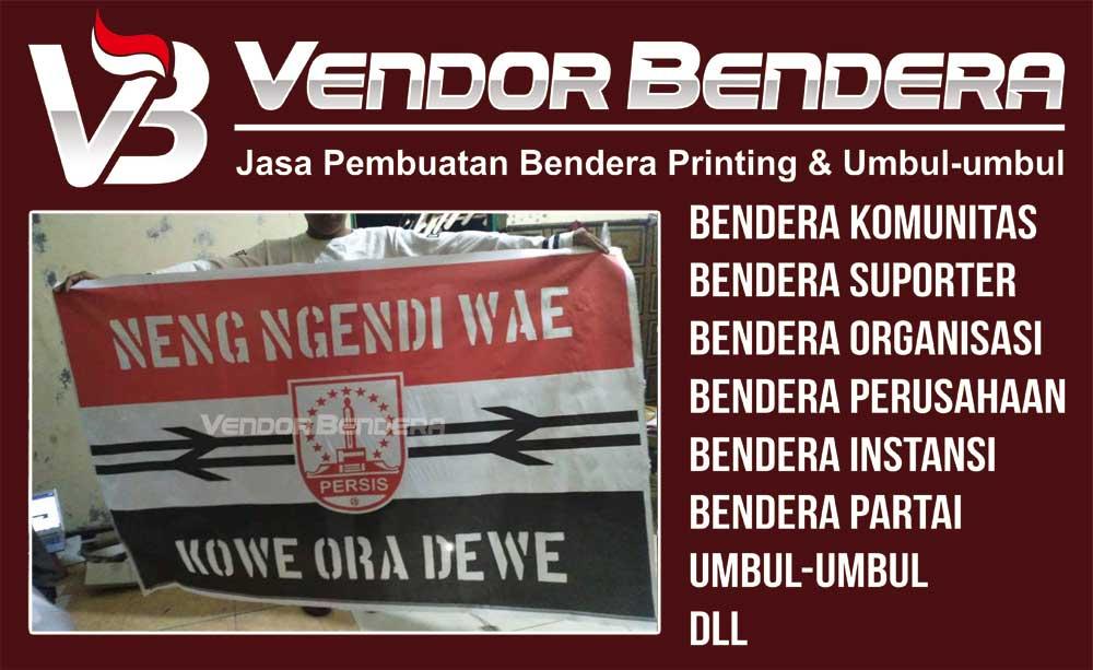 Jasa Pembuatan Bendera Suporter printing