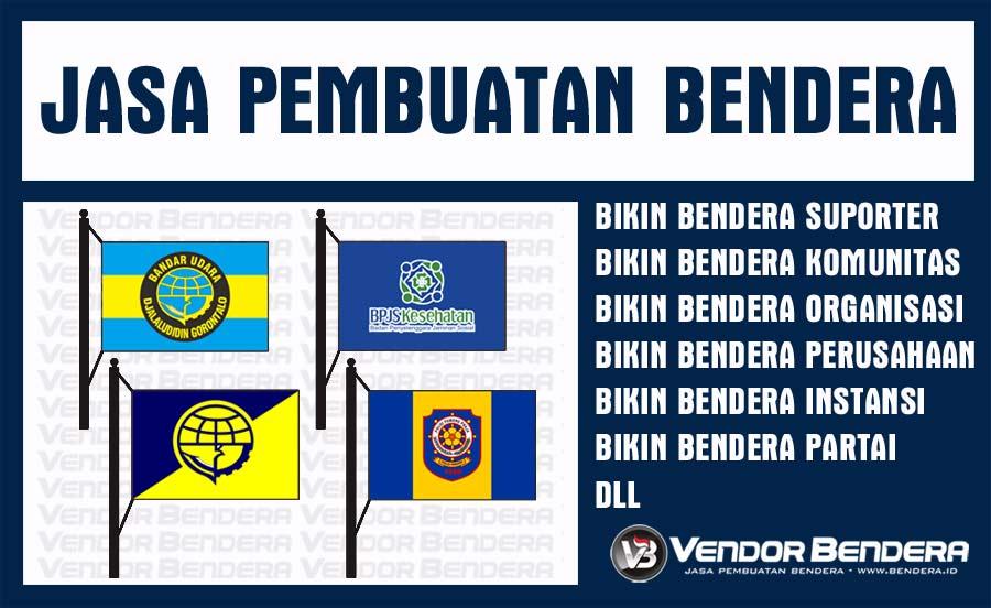 Jasa Printing Bendera Kain Berbagai Desain