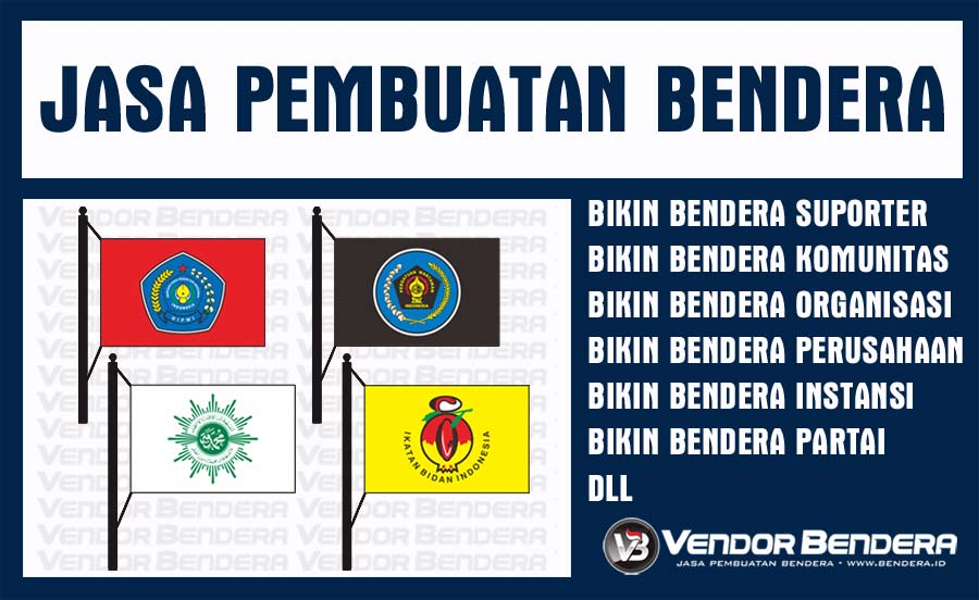 Jasa Sablon Bendera Satuan Murah dengan Teknik Digital Printing