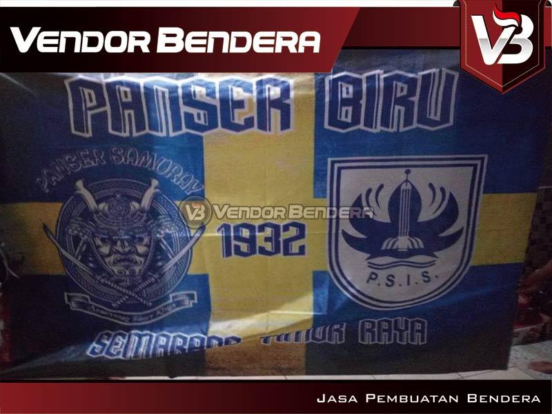 Pembuatan Bendera Fans Dari PSIS Semarang panser biru