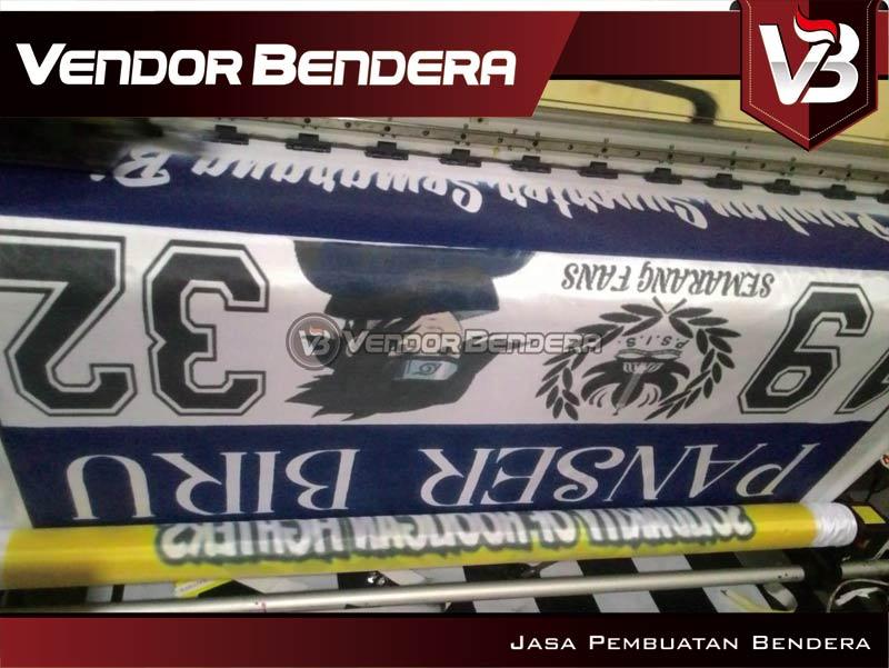 Pembuatan Bikin Bendera Fans Dari PSIS Semarang panser biru