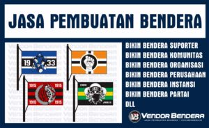 Tempat Sablon Bendera Satuan Murah