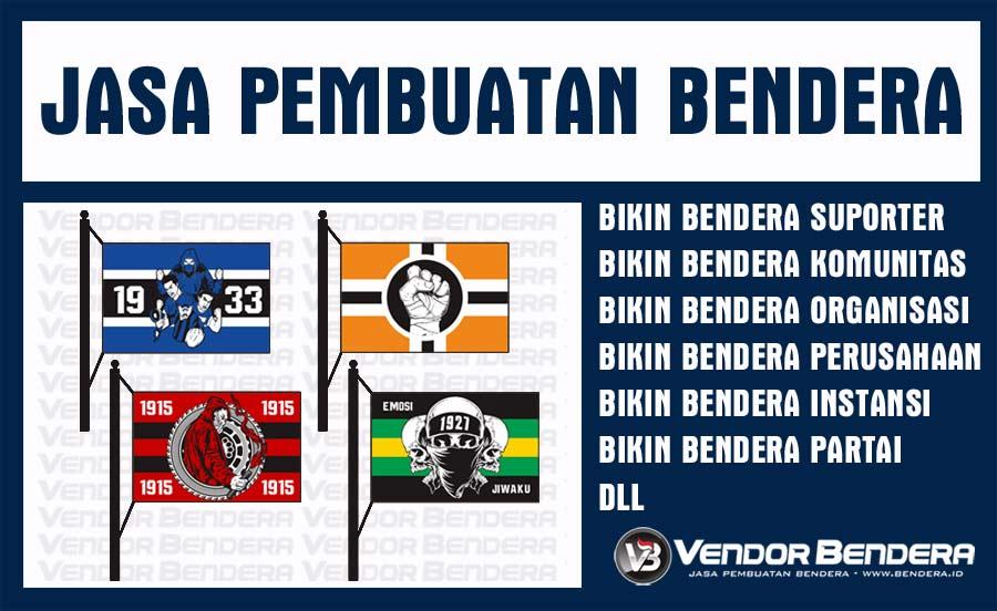 Tempat Sablon Bendera Satuan Murah indonesia
