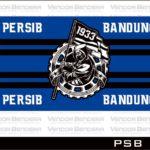 desain bendera Persib Bandung