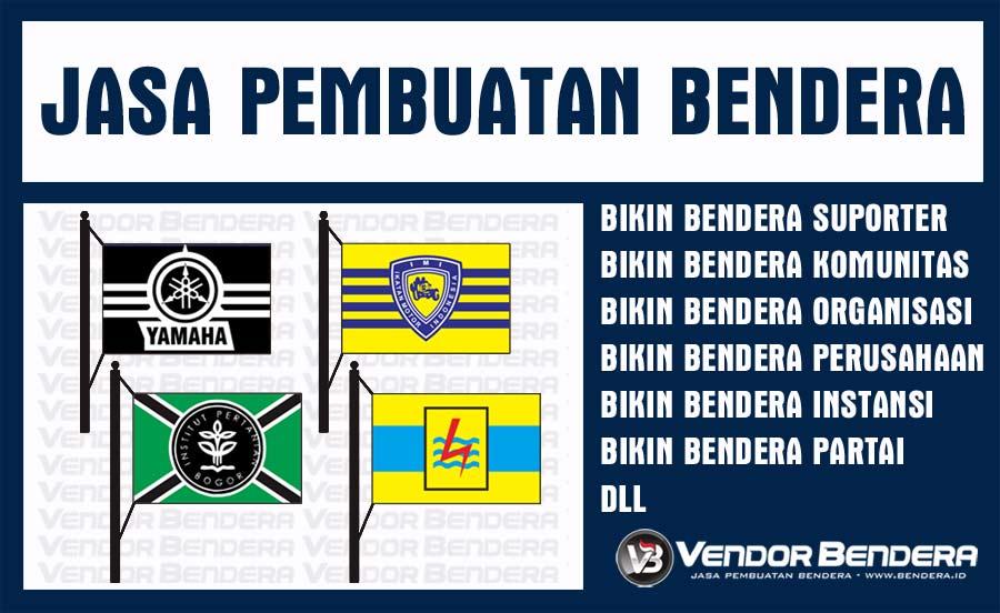 Jasa Sablon Bendera Murah SATUAN