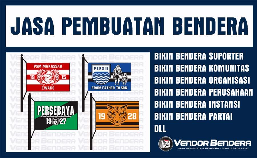 Jual Bendera Custom Desain Semaumu Printing