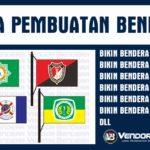 Jual Bendera Satuan Komunitas, Organisasi, Partai Desain Bebas Suka Suka